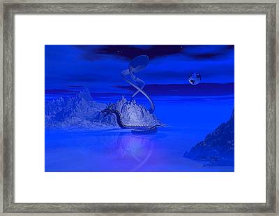 Blue Ice World Dragon Framed Print