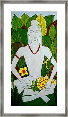 Framed Print featuring the painting Blue Idol by Stephanie Moore