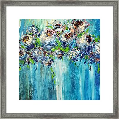 Blue Illusion Framed Print