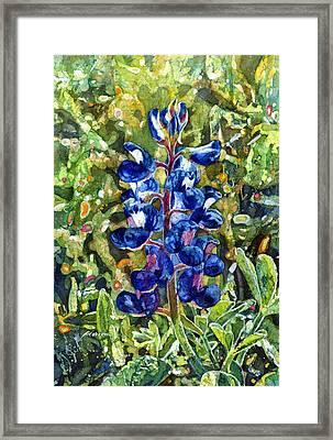 Blue In Bloom Framed Print