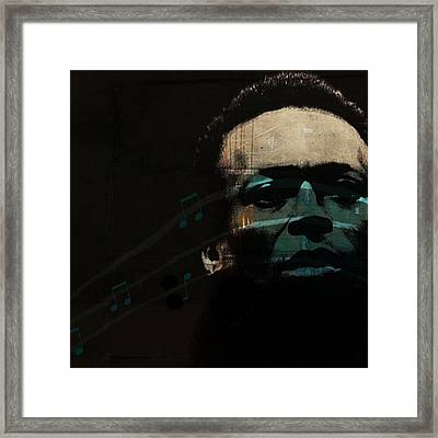Blue In Green - Retro Series Framed Print by Paul Lovering