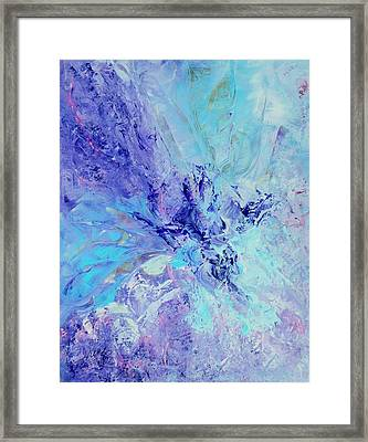 Blue Indigo Framed Print by Irene Hurdle