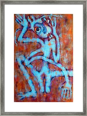 Blue Instinct Framed Print by Claudia Padilla