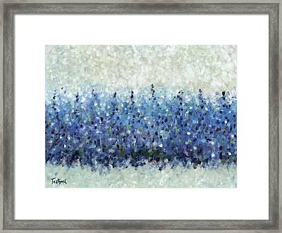 Blue Intensity Framed Print