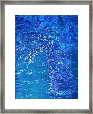 Blue Intensity Vase Y Flores Framed Print by Anne-Elizabeth Whiteway