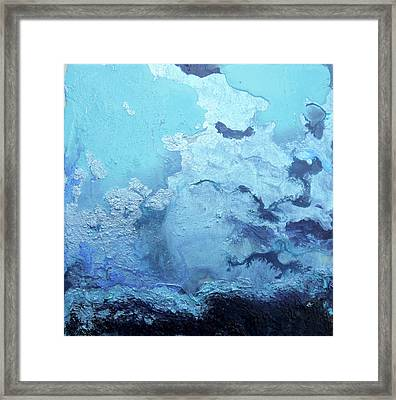 Blue Is  Taking Over The World Framed Print by Joseph Demaree