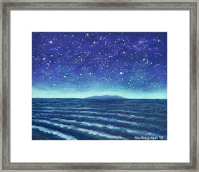 Blue Island 01 Framed Print