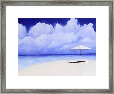 Blue Isolation Framed Print by Trisha Lambi