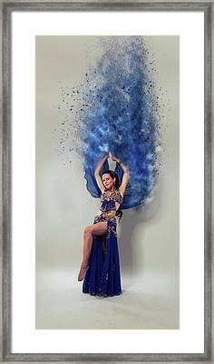 Blue Is The Colour Framed Print by Nichola Denny
