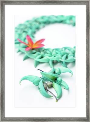 Blue Jade Lei Framed Print