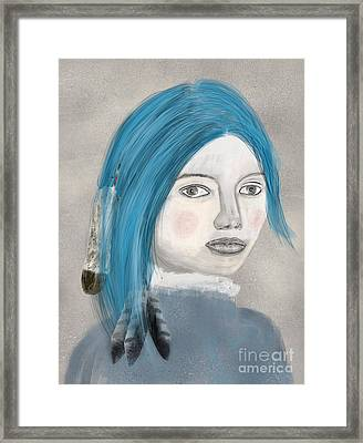 Framed Print featuring the painting Blue Jasmine by Bri B