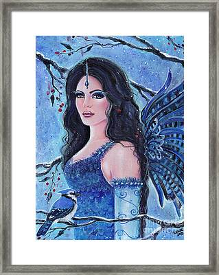 Blue Jay Fae Framed Print