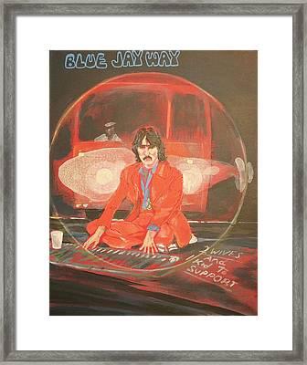 Blue Jay Way Framed Print