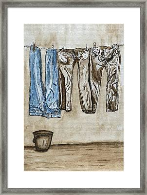 Blue Jeans. Framed Print