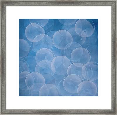 Blue Framed Print by Jitka Anlaufova