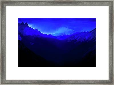 Framed Print featuring the photograph Blue by John Poon