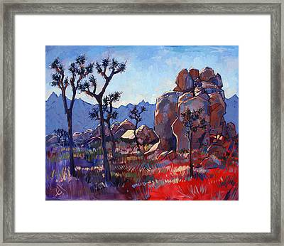 Blue Joshua Rock Framed Print by Erin Hanson