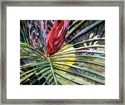 Blue Jungle Framed Print by Mindy Newman