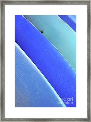 Blue Kayaks Framed Print by Brandon Tabiolo - Printscapes