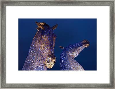 Blue Kelpies Framed Print by Stephen Taylor