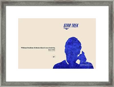 Blue Kirk Framed Print by Pablo Franchi