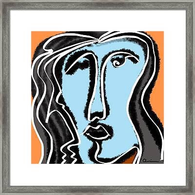 Blue Lady Framed Print