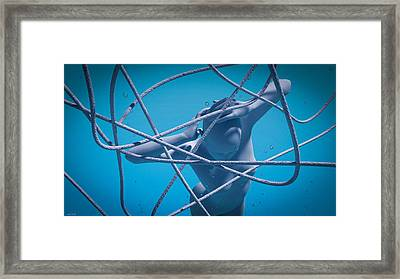 Blue Lady Framed Print by Shinji K