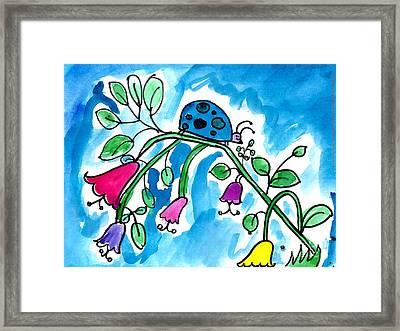 Blue Ladybug Framed Print