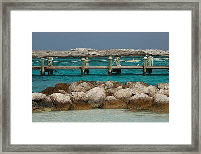Framed Print featuring the photograph Blue Lagoon by Lori Mellen-Pagliaro