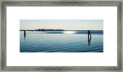 Blue Lagoon Venezia Framed Print by Allan Van Gasbeck