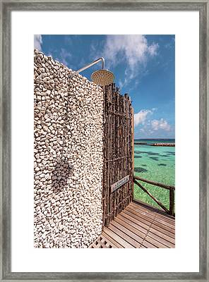 Framed Print featuring the photograph Blue Lagoon View 1 by Jenny Rainbow