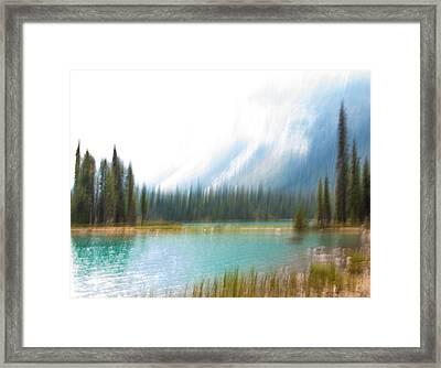 Blue Lake Framed Print by Catherine Alfidi