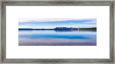 Blue Lake Horizon II Framed Print