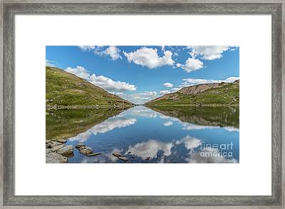 Blue Lake Of Snowdonia Framed Print