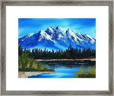 Blue Lake Framed Print by Roy Gould
