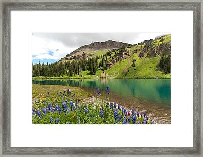 Framed Print featuring the photograph Blue Lakes Summer Splendor by Cascade Colors