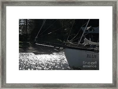 Blue Framed Print by Laura  Wong-Rose