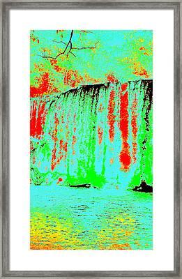 Blue Lava Waterfall Framed Print by Erika Swartzkopf