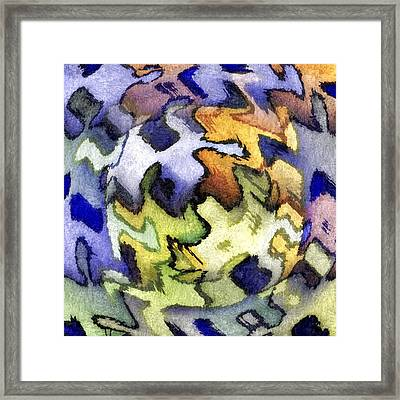 Blue Leopard Skin Framed Print by Terry Mulligan