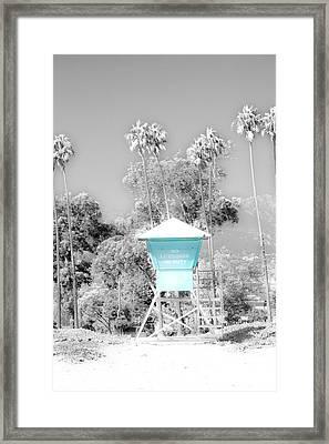 Blue Life Guard Shack. Framed Print