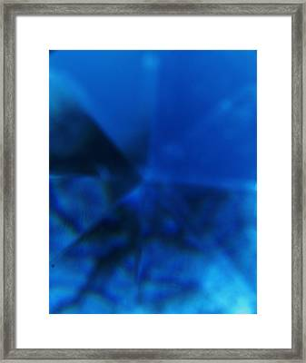 Framed Print featuring the photograph Blue Light Directions  by Kicking Bear  Productions