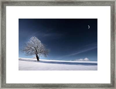 Framed Print featuring the photograph Blue Like Snow by Philippe Sainte-Laudy