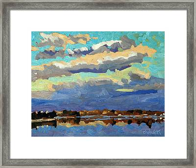 Blue Line Framed Print by Phil Chadwick