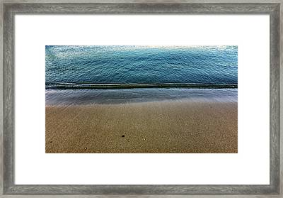 Blue Line Framed Print by Stelios Kleanthous