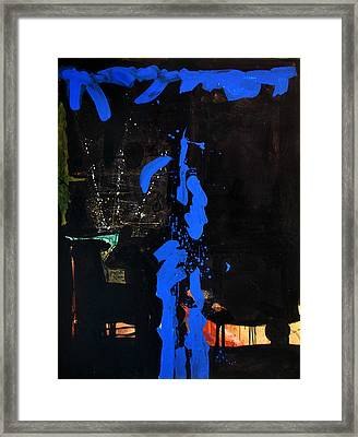 Blue Line Framed Print by Vonitya Anand