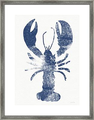Blue Lobster- Art By Linda Woods Framed Print