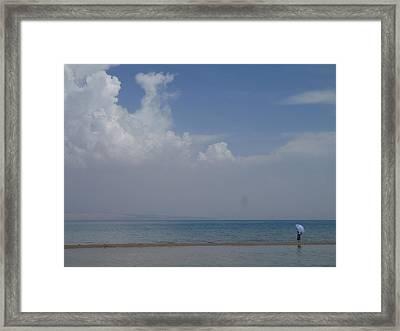 Blue Loneliness Framed Print by Cris Motta