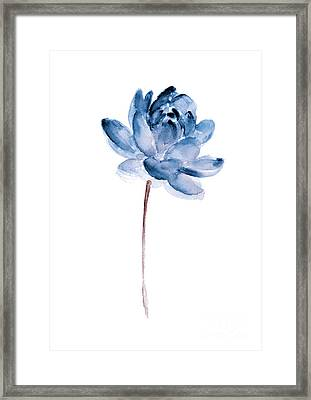 Blue Lotos Flower Girls Room Decor Framed Print
