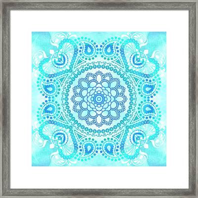Blue Lotus Mandala Framed Print by Tammy Wetzel
