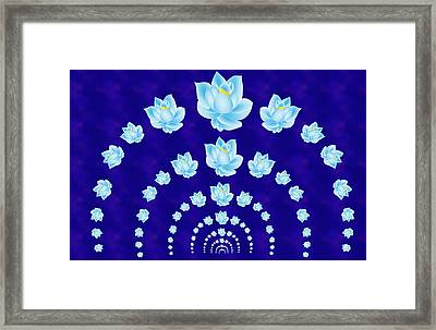 Blue Lotus Tunnel Framed Print by Samantha Thome